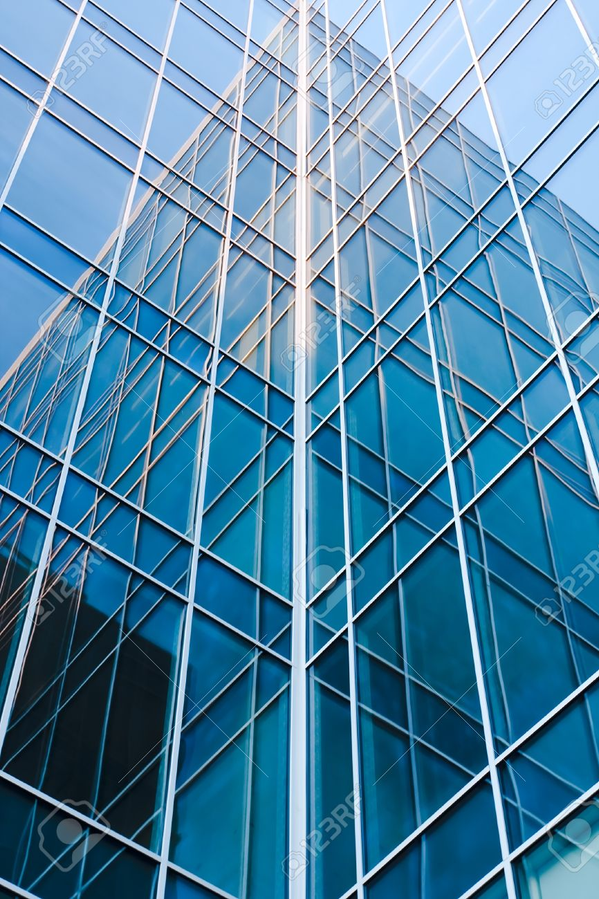contemporary blue glass architectural buildings Stock Photo - 8388723