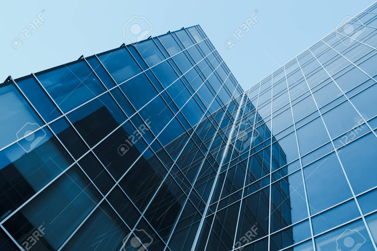 abstract glass skyscrapers at night Stock Photo - 8431870