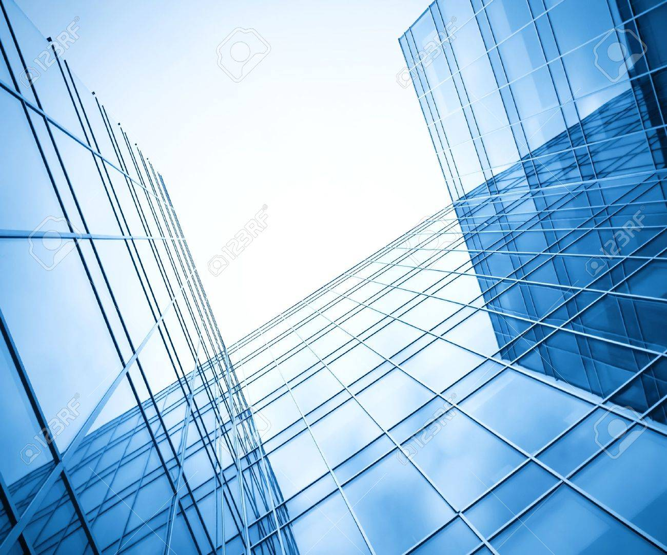 modern glass silhouettes of skyscrapers at night Stock Photo - 8826899