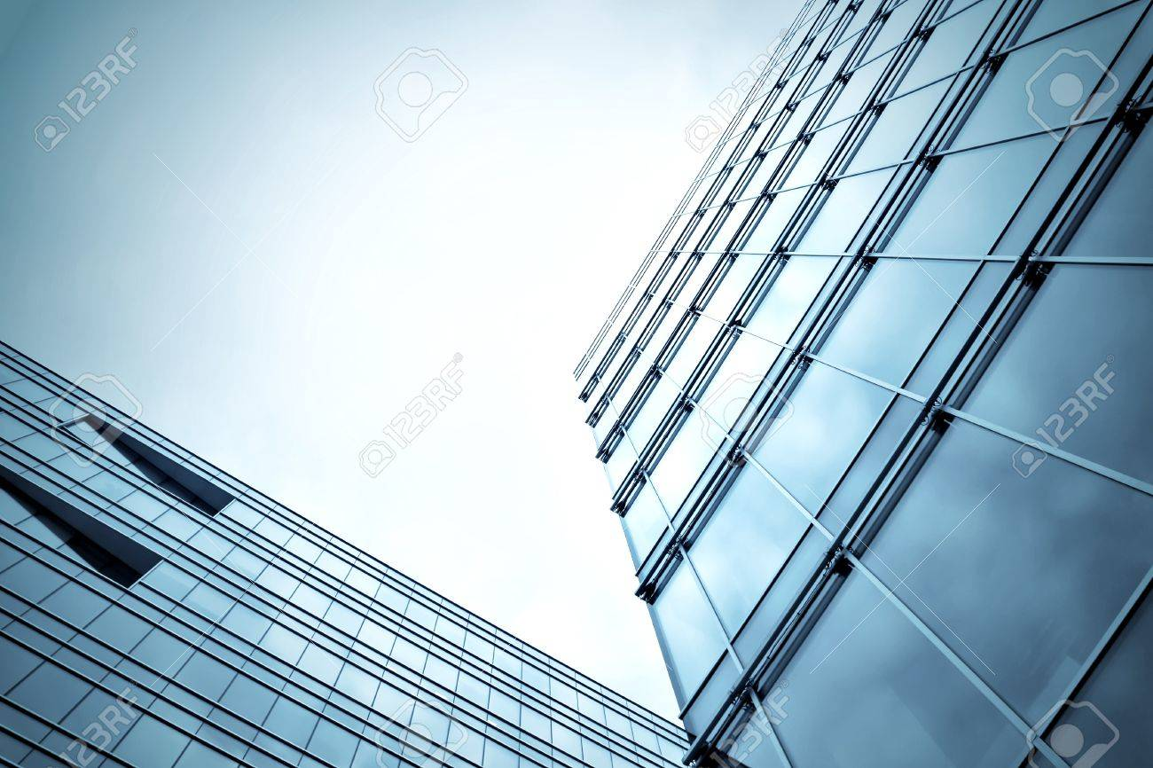 abstract blue building skyscraper Stock Photo - 8827069