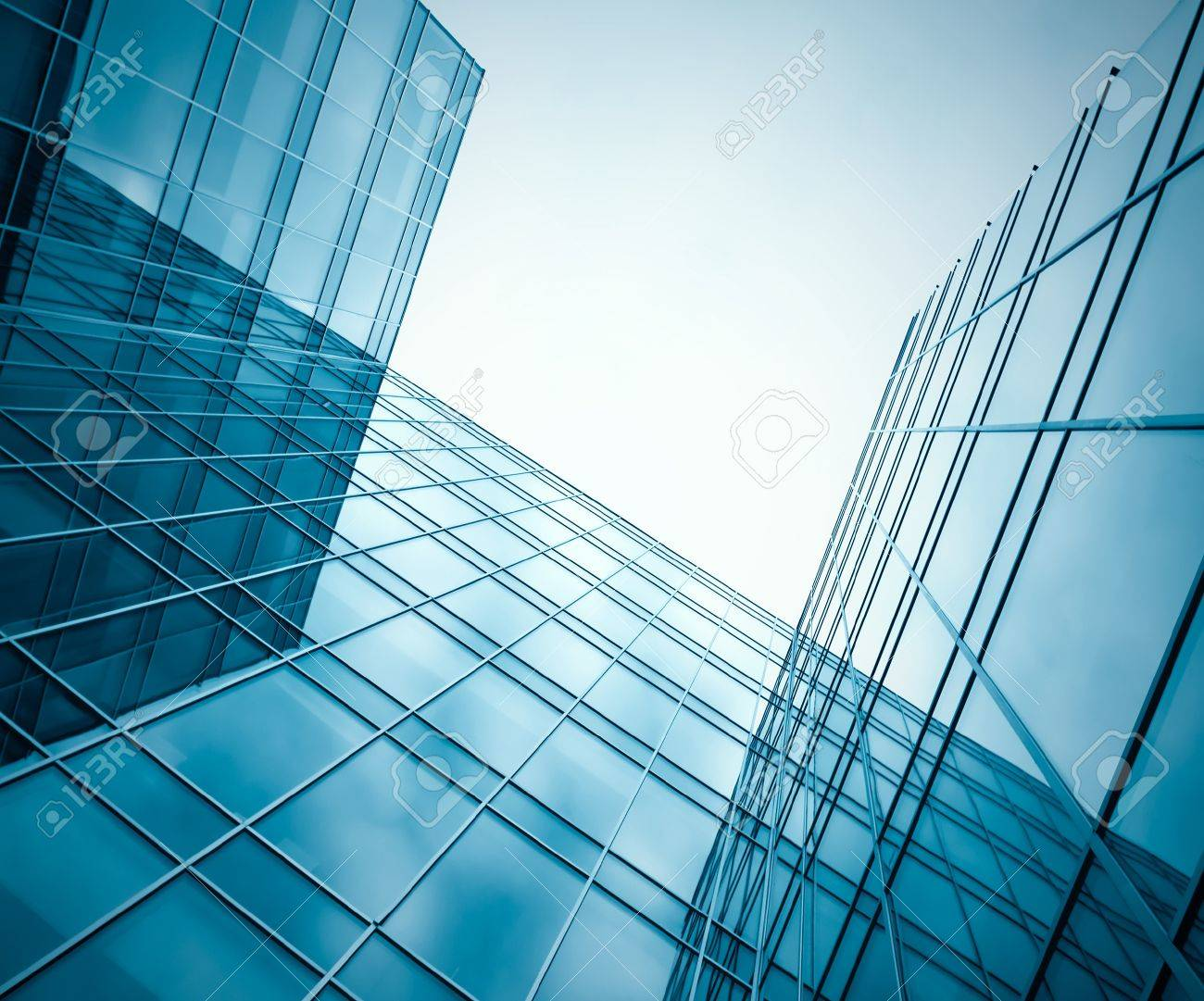modern glass silhouettes of skyscrapers at night Stock Photo - 8826894