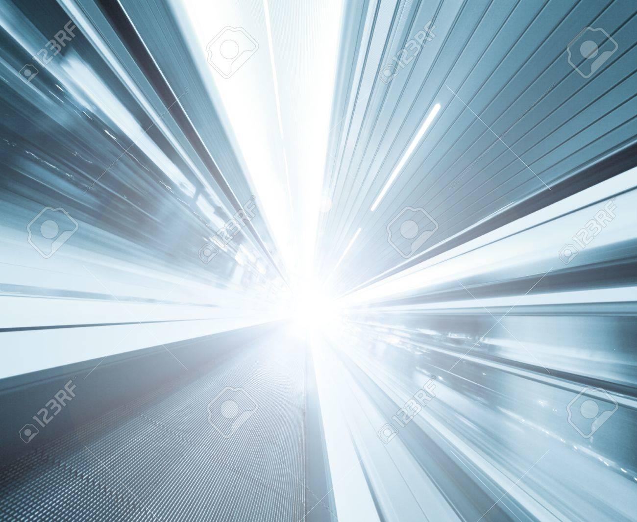high-speed moving escalator Stock Photo - 8930886