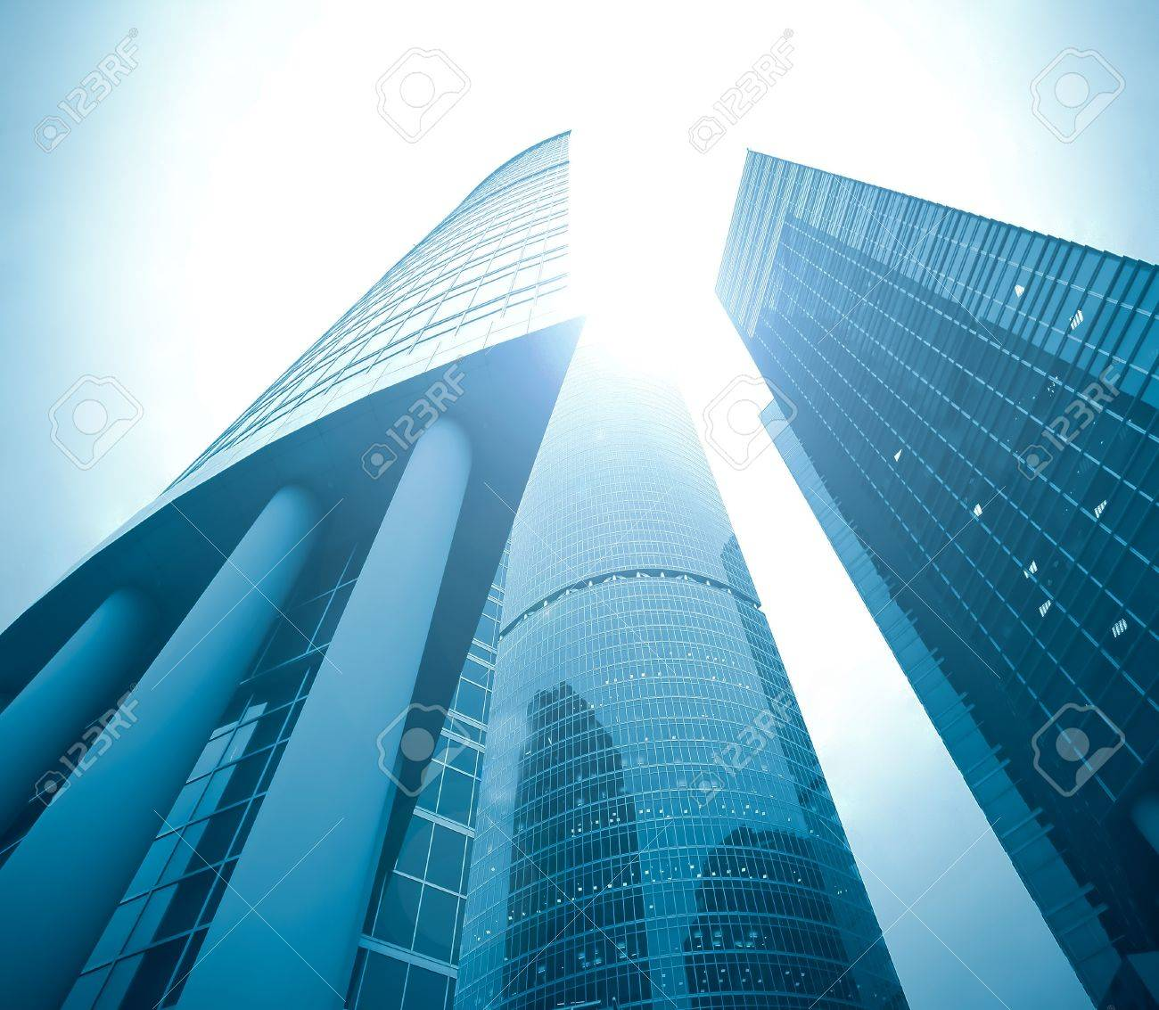 facade of huge high-rise building skyscraper Stock Photo - 9198777