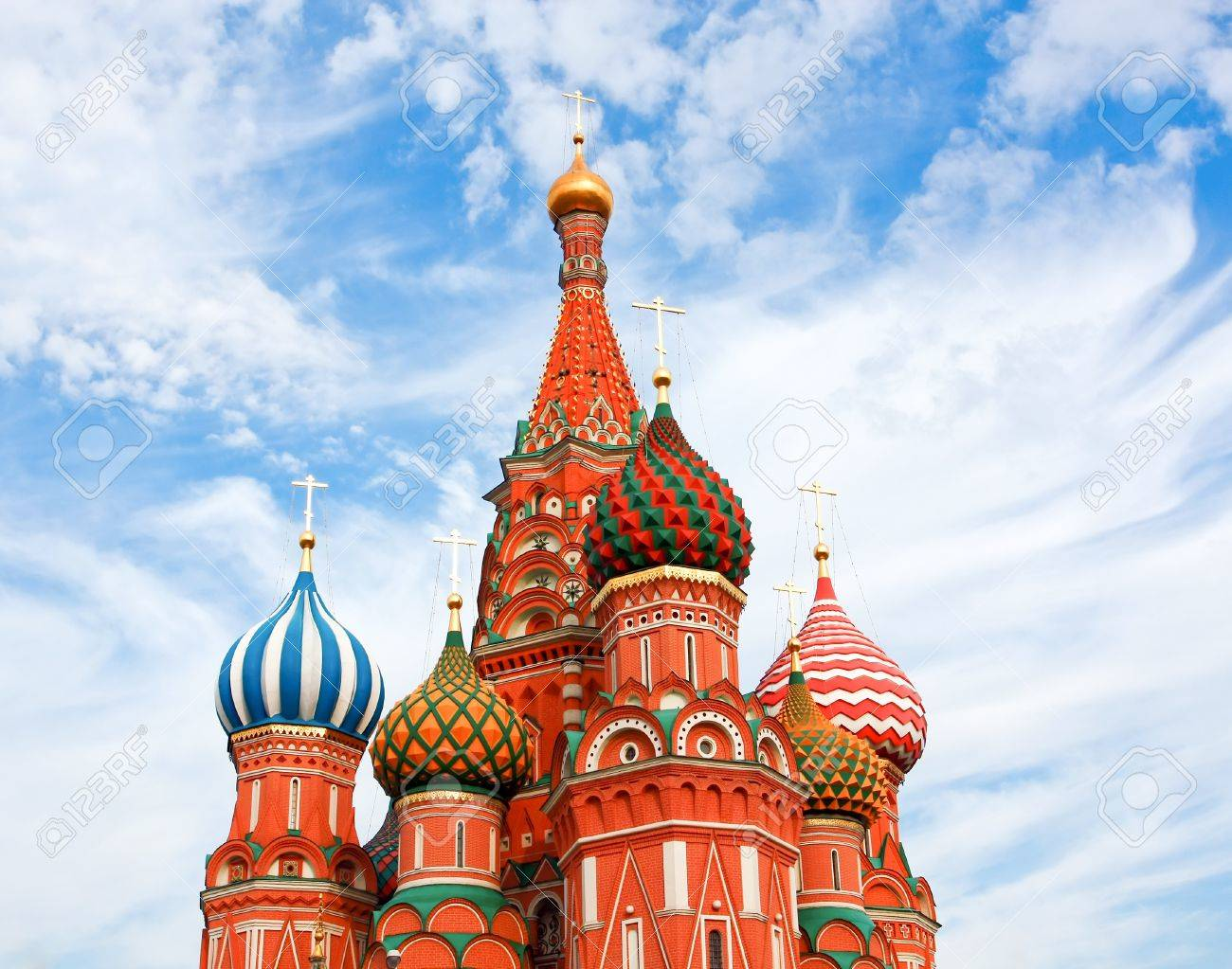 Cathedral of Vasily the Blessed on Red Square Moscow Russia Stock Photo - 9959158