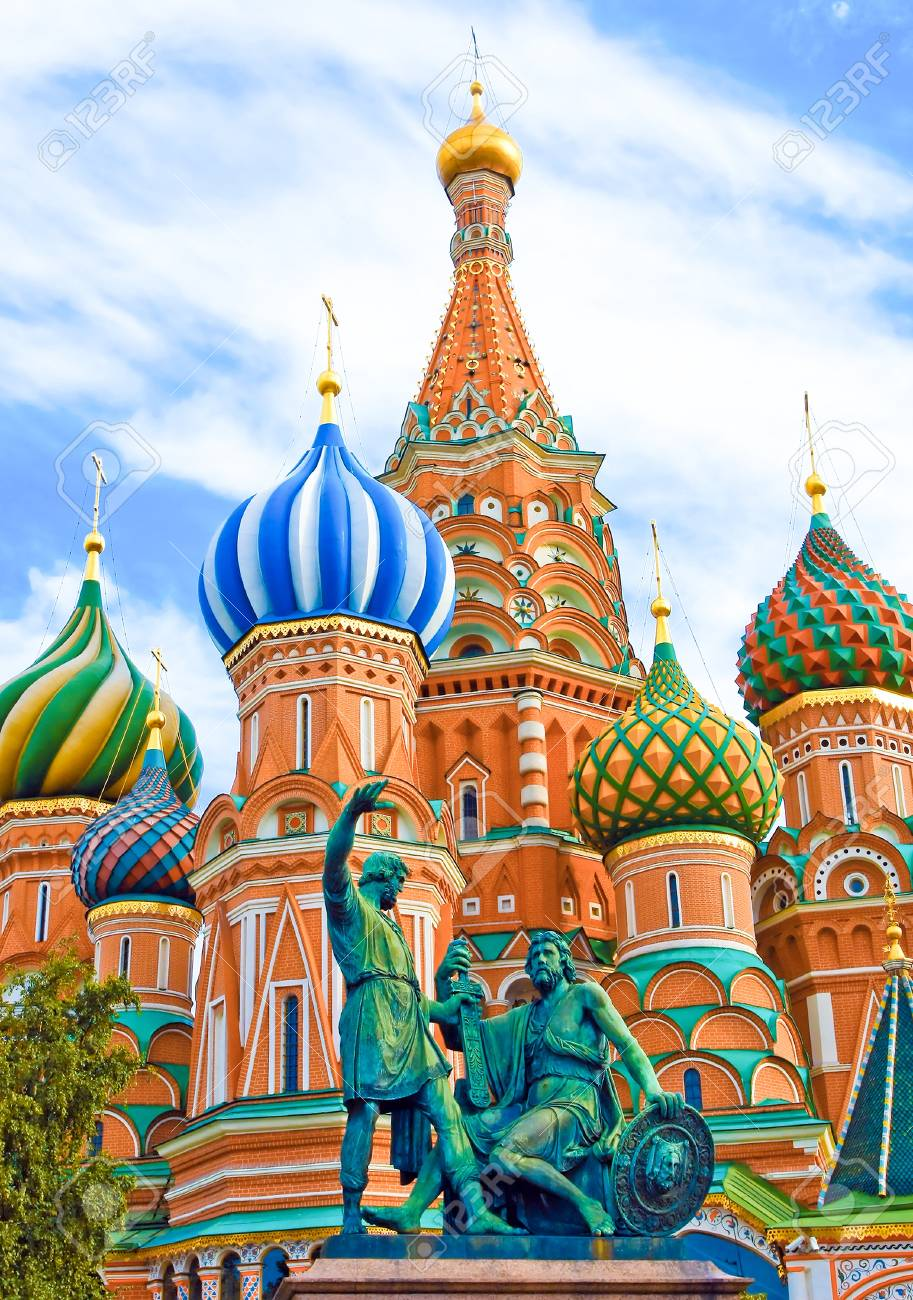 Cathedral of Vasily the Blessed on Red Square in Moscow, Russia Stock Photo - 10217019