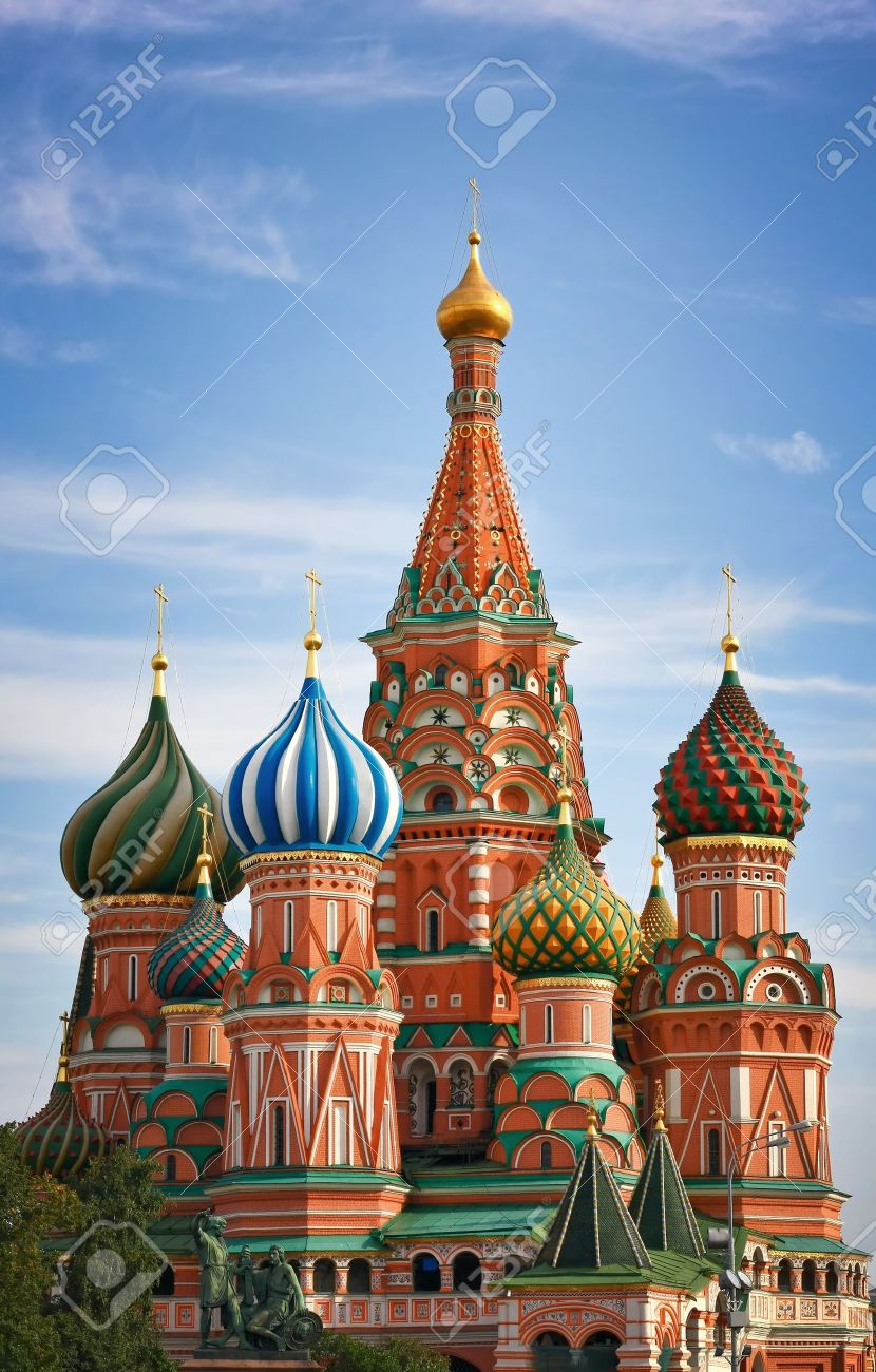 Moscow, Russia, Saint Basil\u0027s Cathedral Stock Photo, Picture And ...