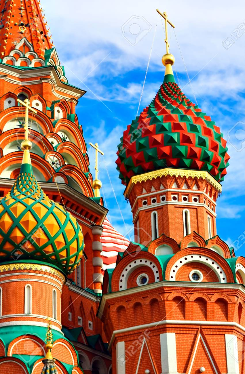 Moscow, Russia, Saint Basil's cathedral Stock Photo - 10489012