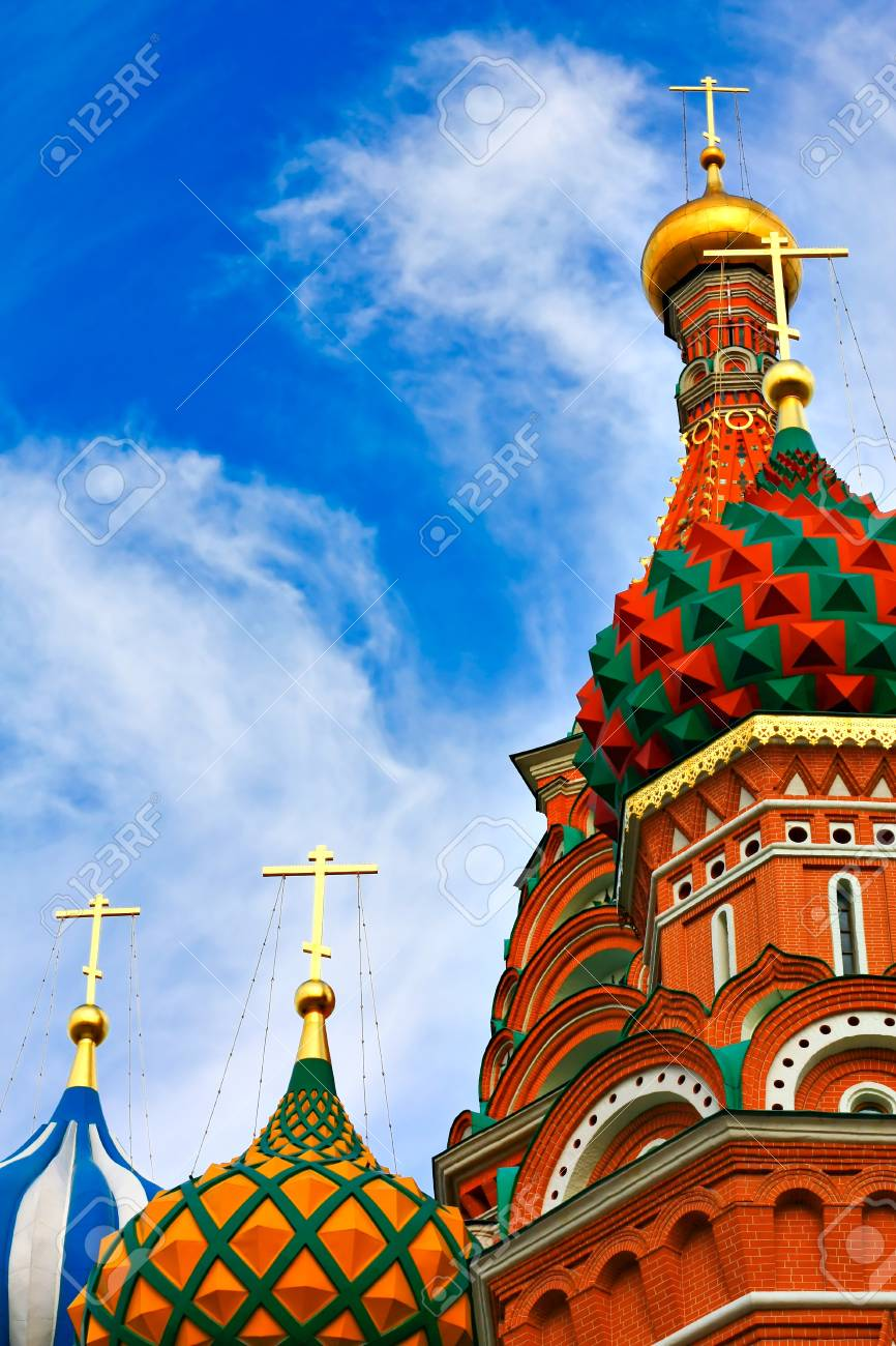 Cathedral of Vasily the Blessed on Red Square Moscow Russia Stock Photo - 10489207