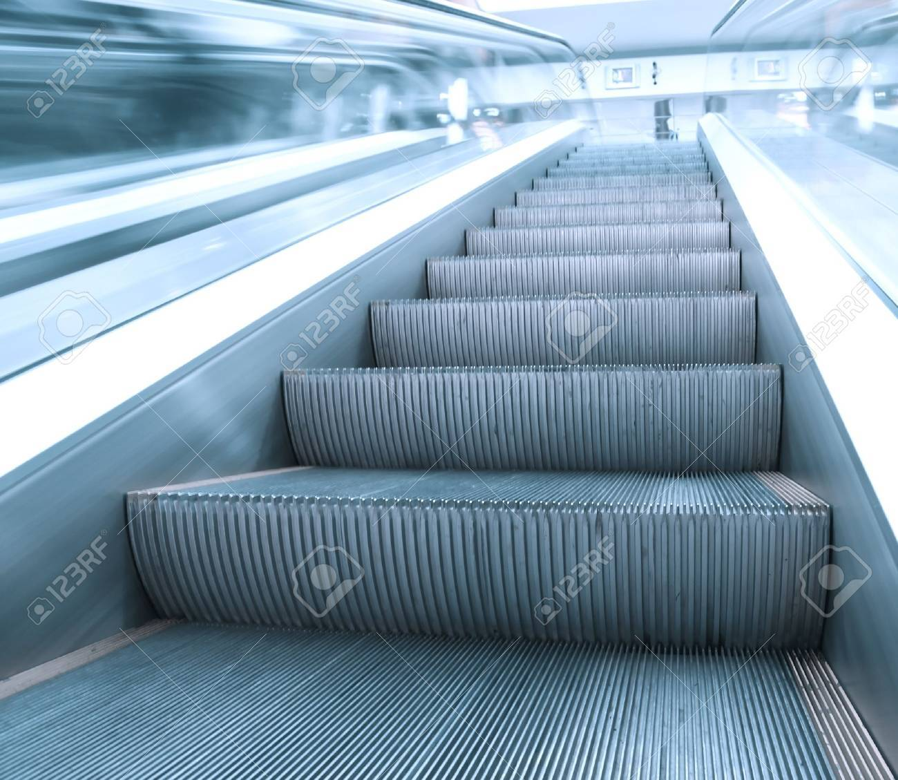 business pass with escalator in business hall Stock Photo - 10488900
