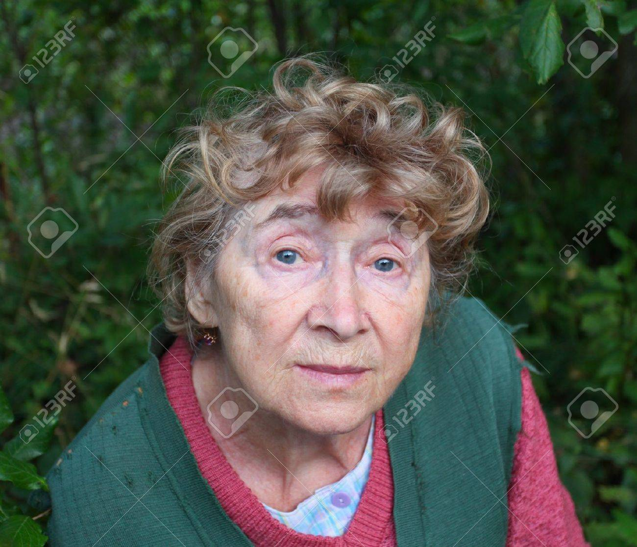 portrait of a nice aged woman at nature Stock Photo - 10508057