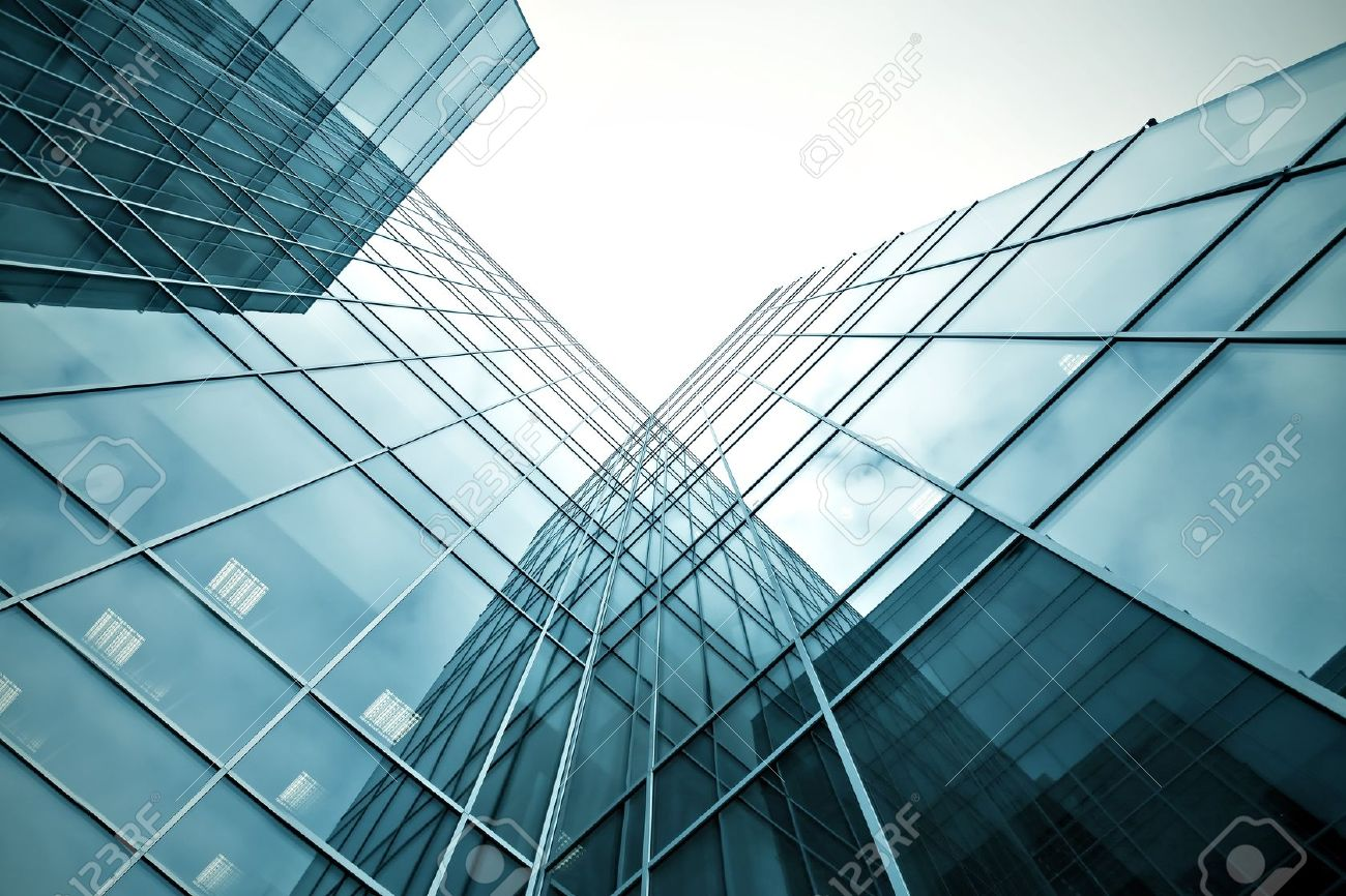 slippery texture of glass high-rise building Stock Photo - 10980828