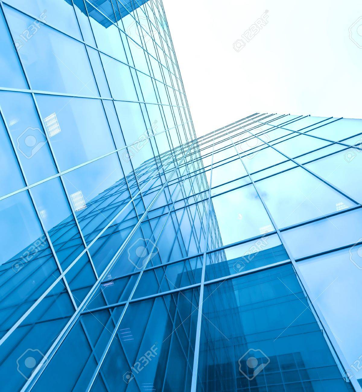 turquoise glass high-rise corporate building Stock Photo - 10980759