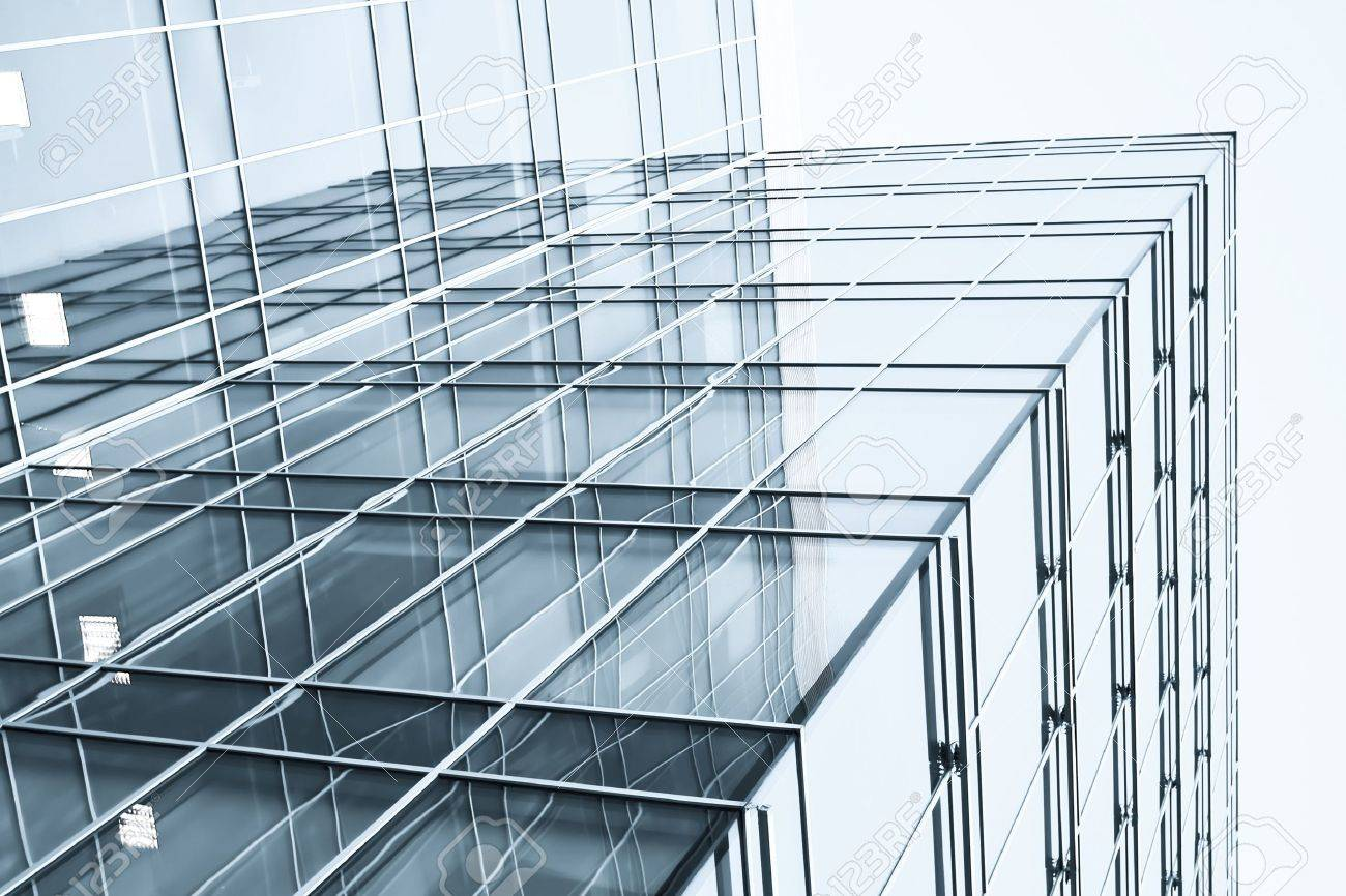 transparent glass wall with blank placard of skyscraper Stock Photo - 10980601