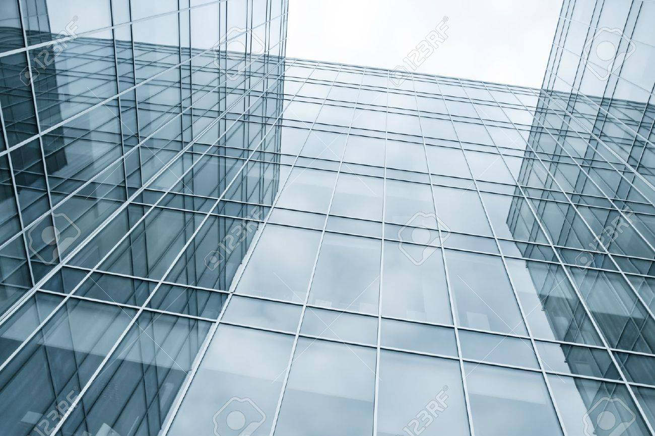 modern blue glass wall of skyscrapers Stock Photo - 10980714