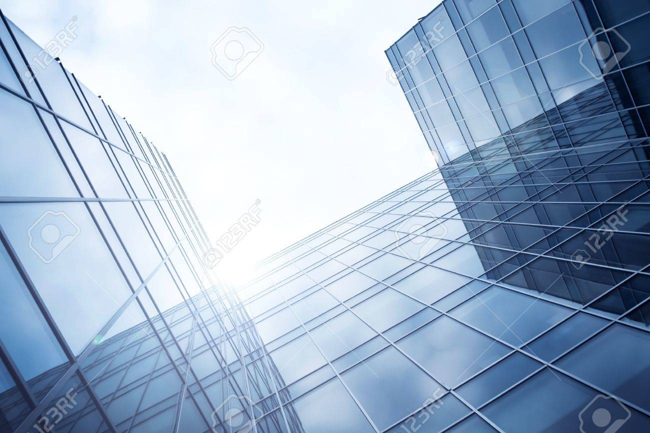 purple evening texture of glass high-rise building Stock Photo - 10980598