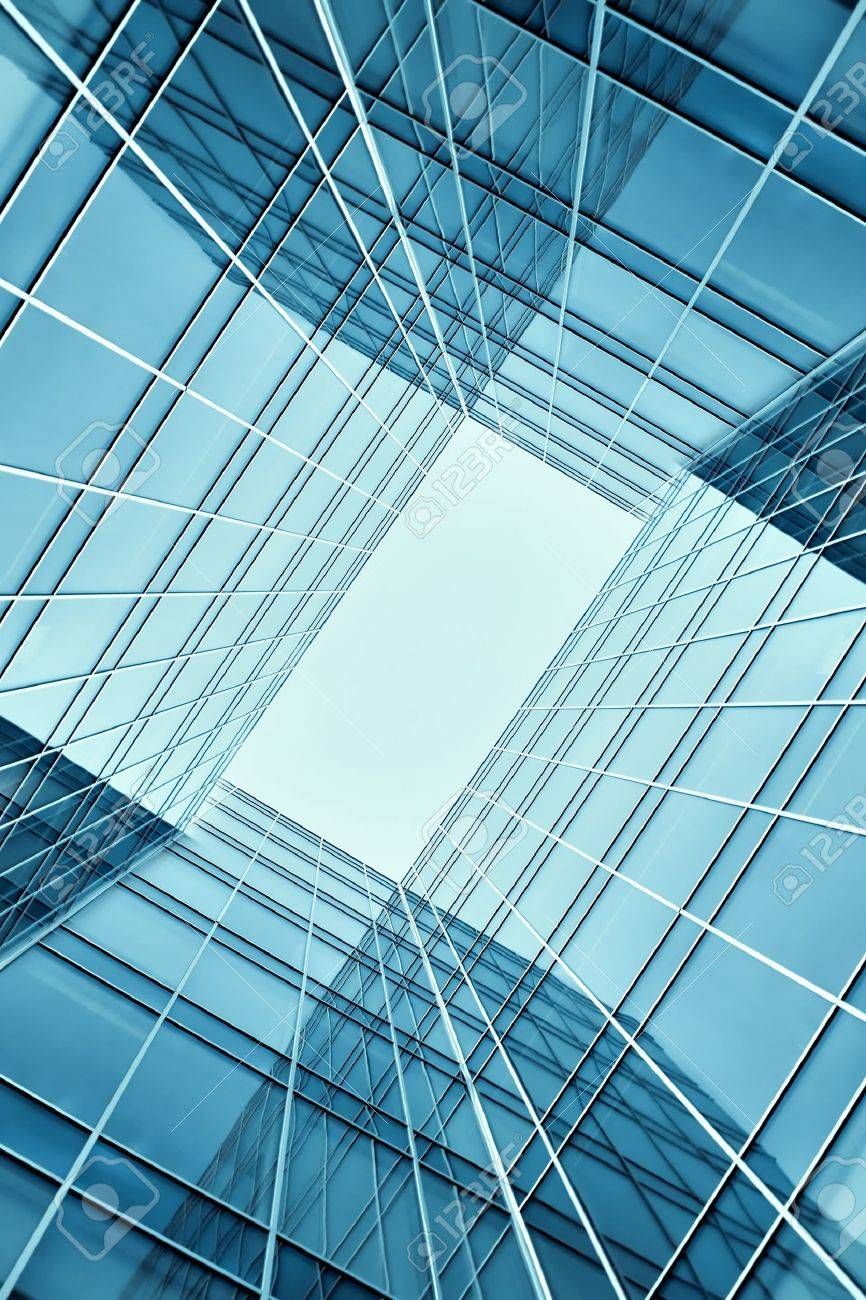 glass building perspective view Stock Photo - 17685755