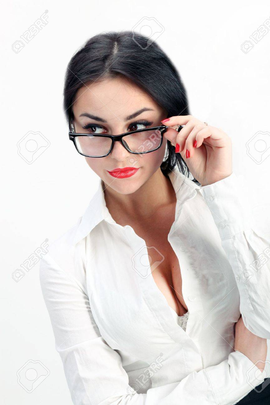 closeup of sexy and confident business woman Stock Photo - 17569523