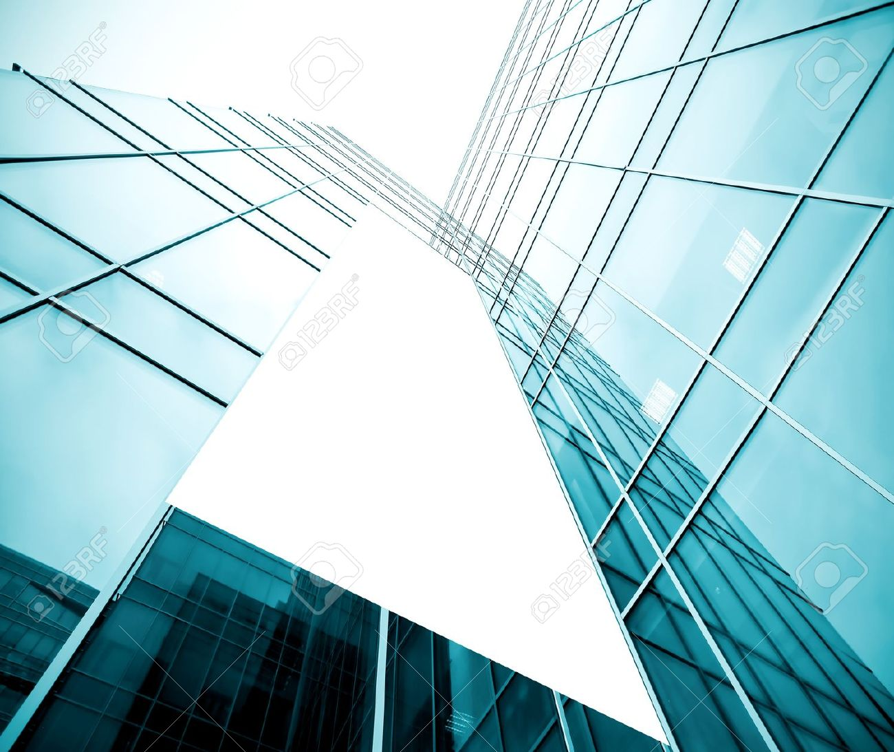 blank billboard over glassy building texture Stock Photo - 19474136