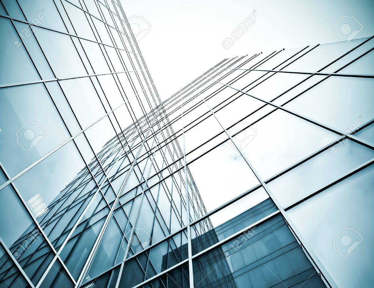 underside view to steel glass high rise building Stock Photo - 19484381