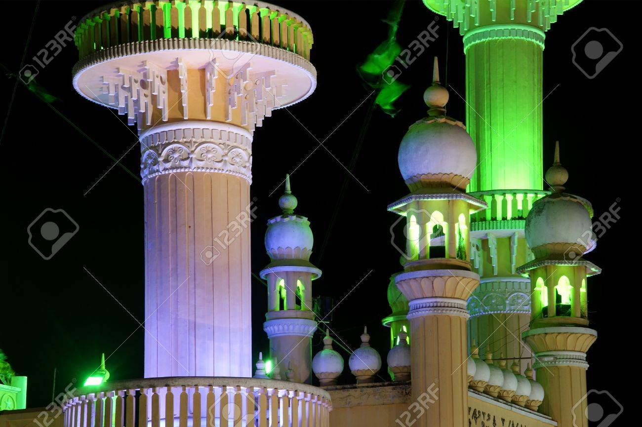 Muslim (Arab) Mosque, Kovalam, Kerala, South India Stock Photo - 11320006