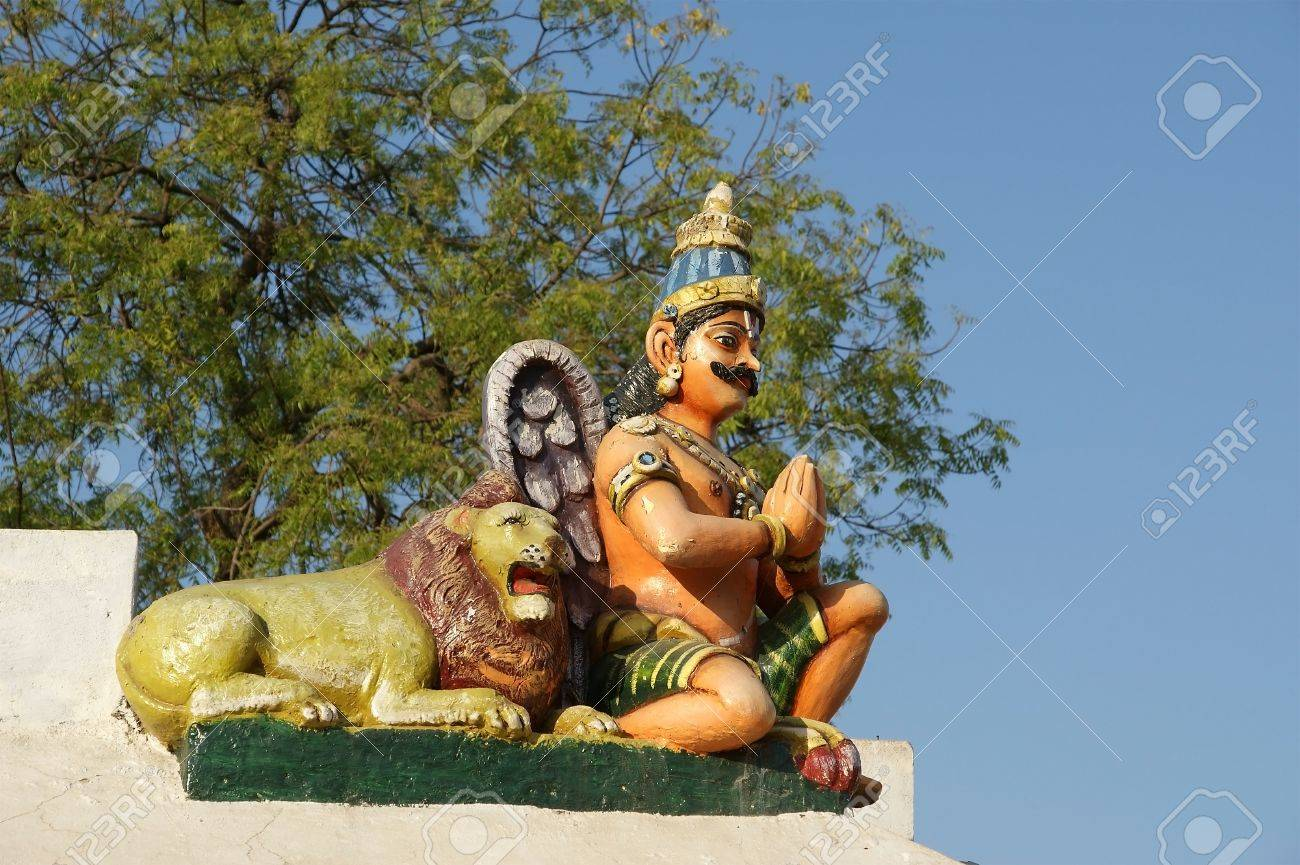 Traditional statues of gods and goddesses in the Hindu temple, south India, Kerala Stock Photo - 11332399