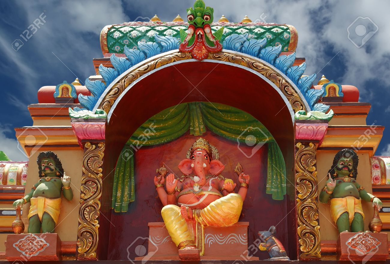 Beautiful pictures of gods and their temple - Hindu Temple Traditional Statues Of Gods And Goddesses In The Hindu Temple South India
