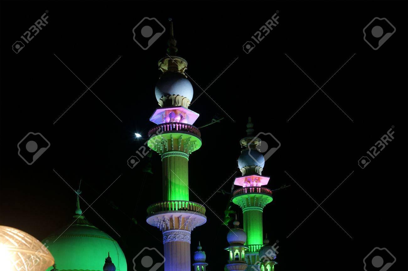 Muslim (Arab) Mosque, Kovalam, Kerala, South India Stock Photo - 11320095