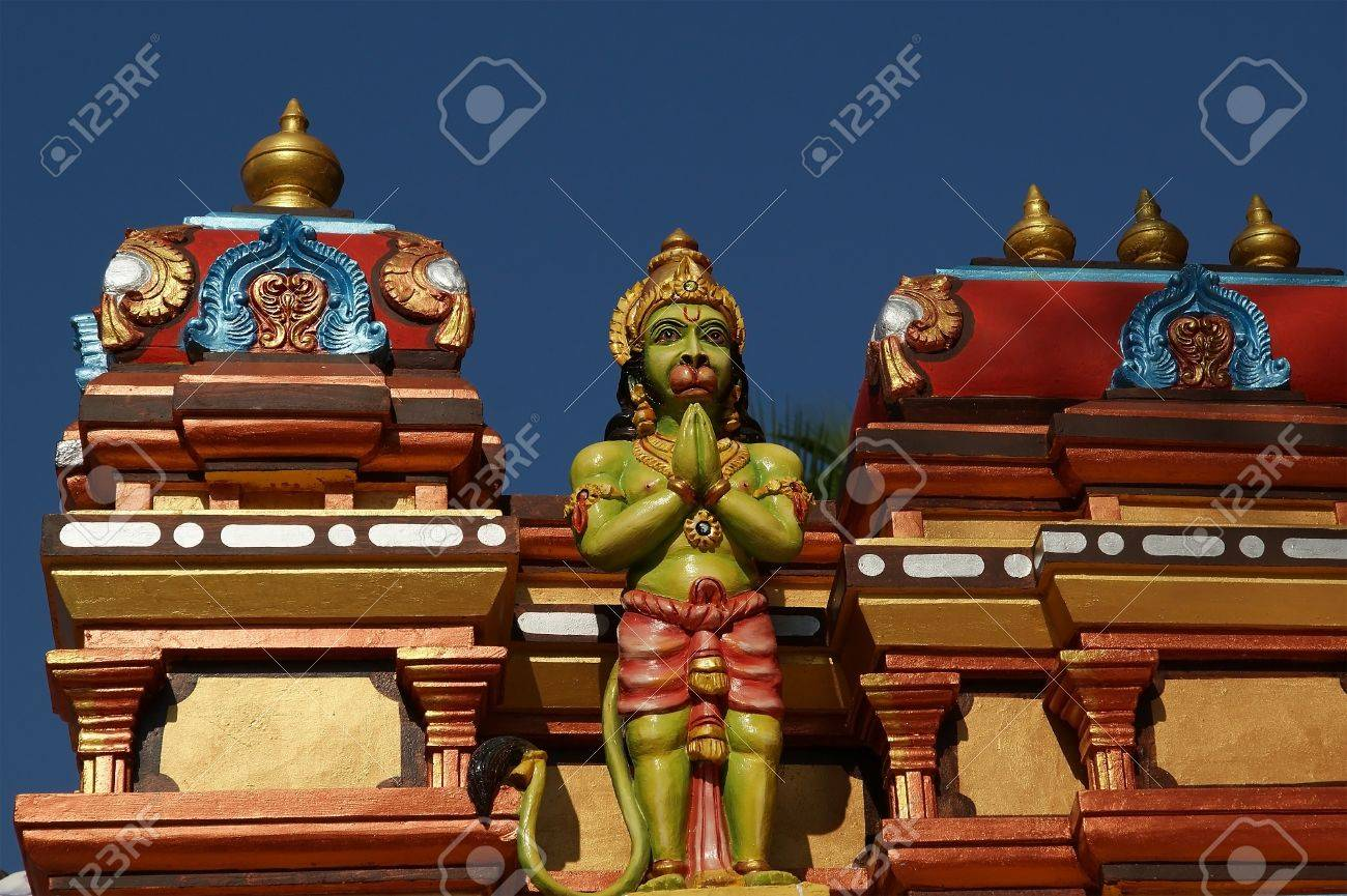 Stock Photo   Traditional Statues Of Gods And Goddesses In The Hindu Temple,  South India, Kerala