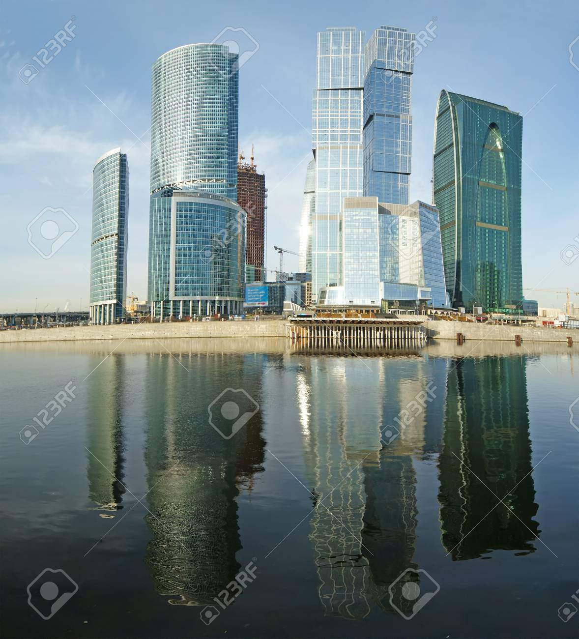 Panorama of the international business centre  City , Moscow, Russia Stock Photo - 13260233