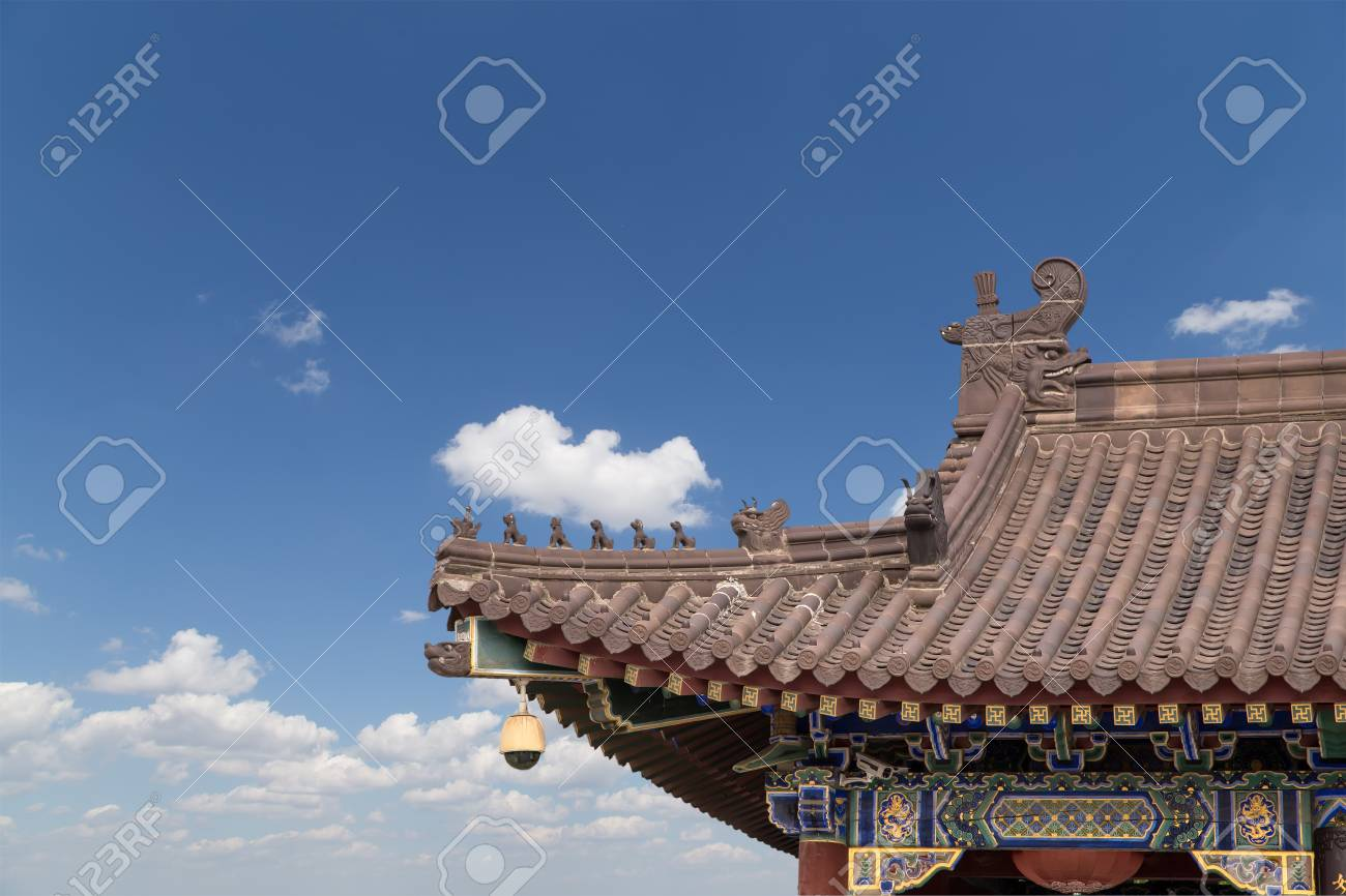 Giant Wild Goose Pagoda or Big Wild Goose Pagoda, is a Buddhist pagoda located in southern Xian (Sian, Xi'an),Shaanxi province, China Stock Photo - 24149757