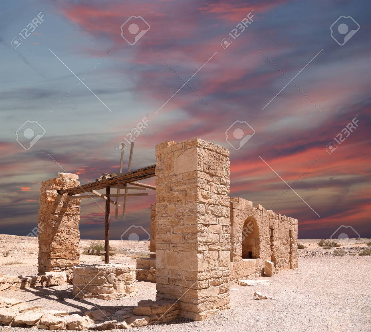 Quseir (Qasr) Amra desert castle near Amman, Jordan  famous fresco's