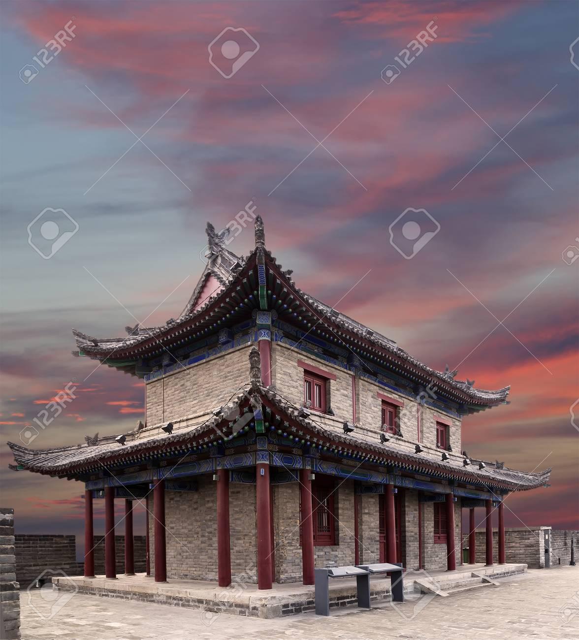 Fortifications of Xian (Sian, Xi'an) an ancient capital of China--