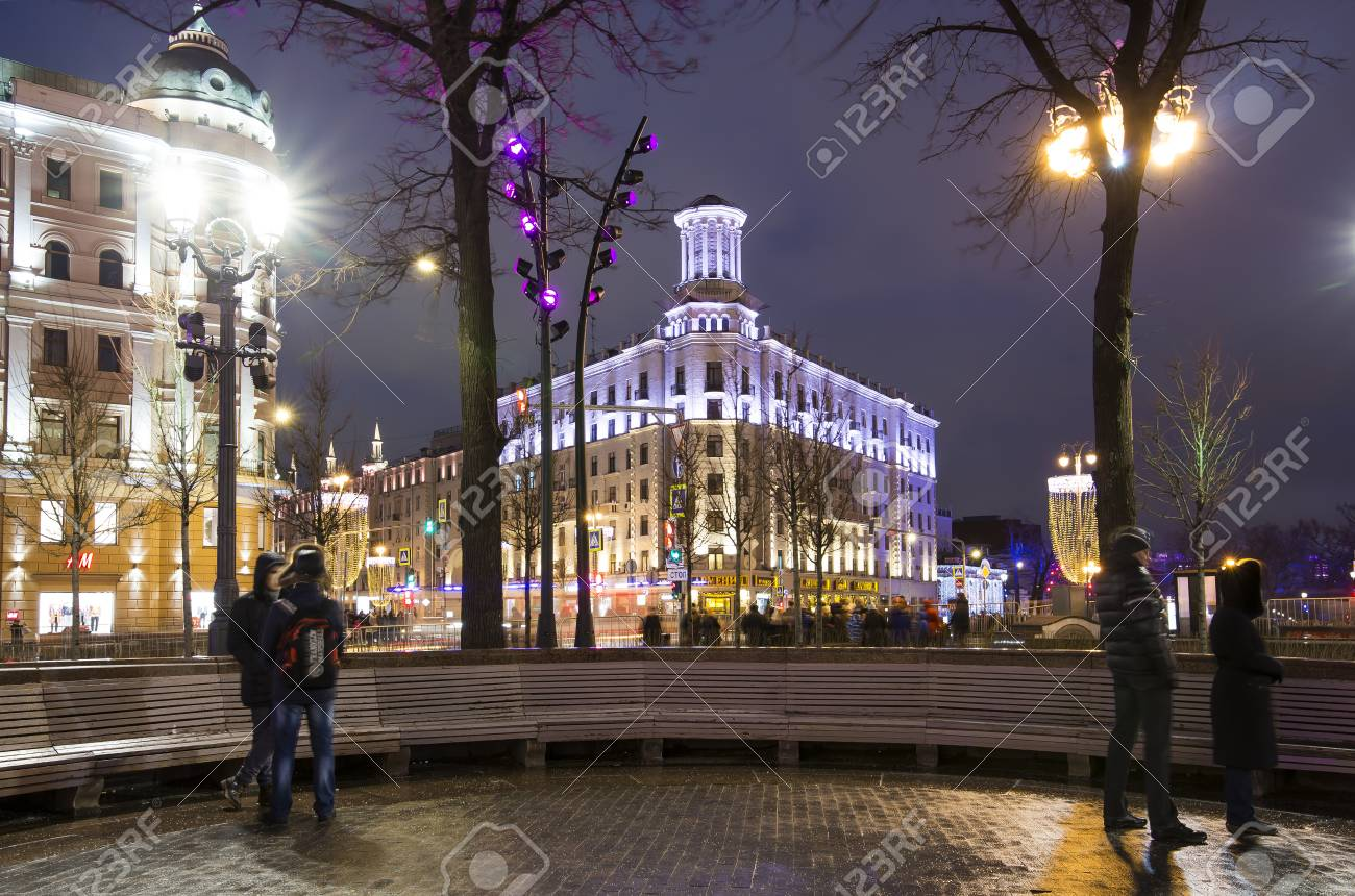 Illumination in Moscow for the New Year 2019 76