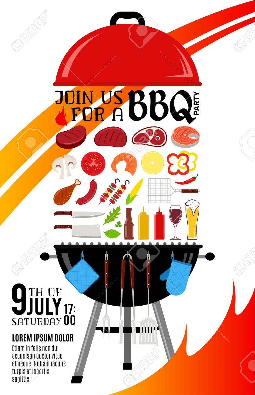 barbecue party invitation
