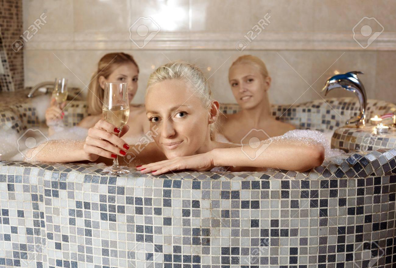 Hot girls in bathtub