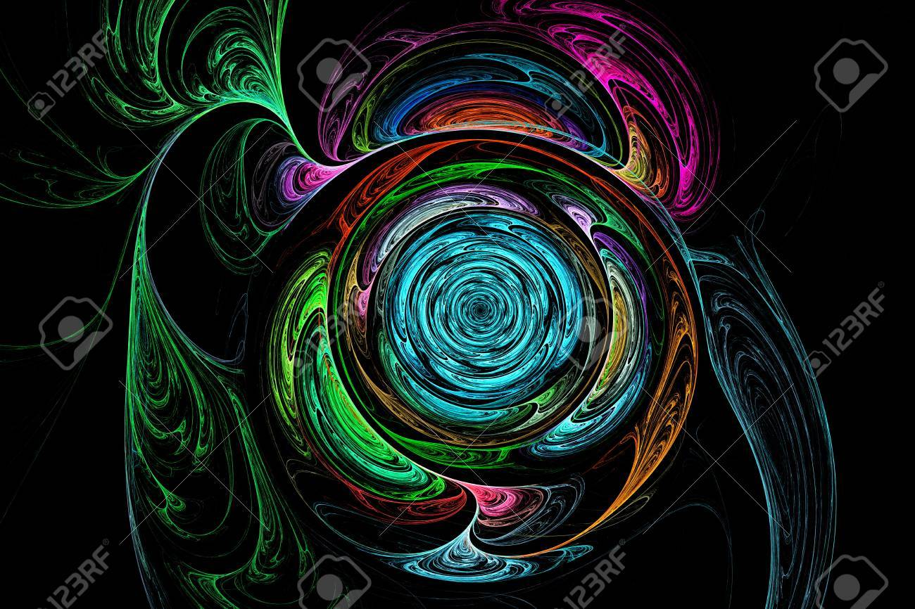 抽象的なフラクタル画像 デスクトップ上のフラクタル壁紙 創造的なグラフィック デザインのためのデジタル アート の写真素材 画像素材 Image