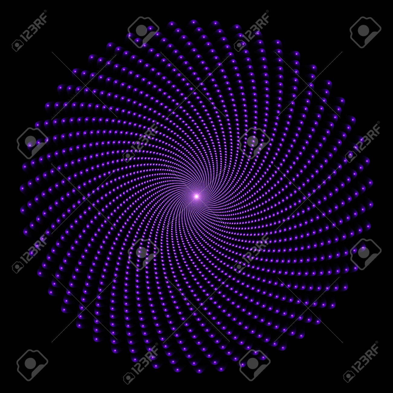 Whirlwind Of Small Circles Converging In A Single Point Abstract