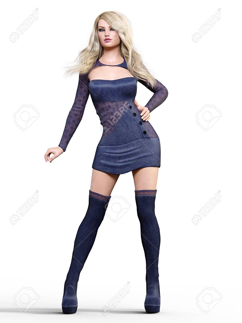short dress long boots