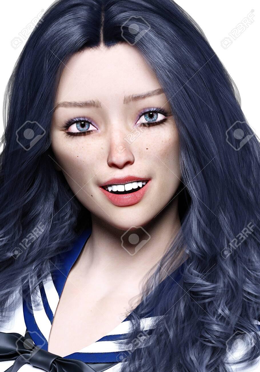 Black Hair Blue Eyes Freckles