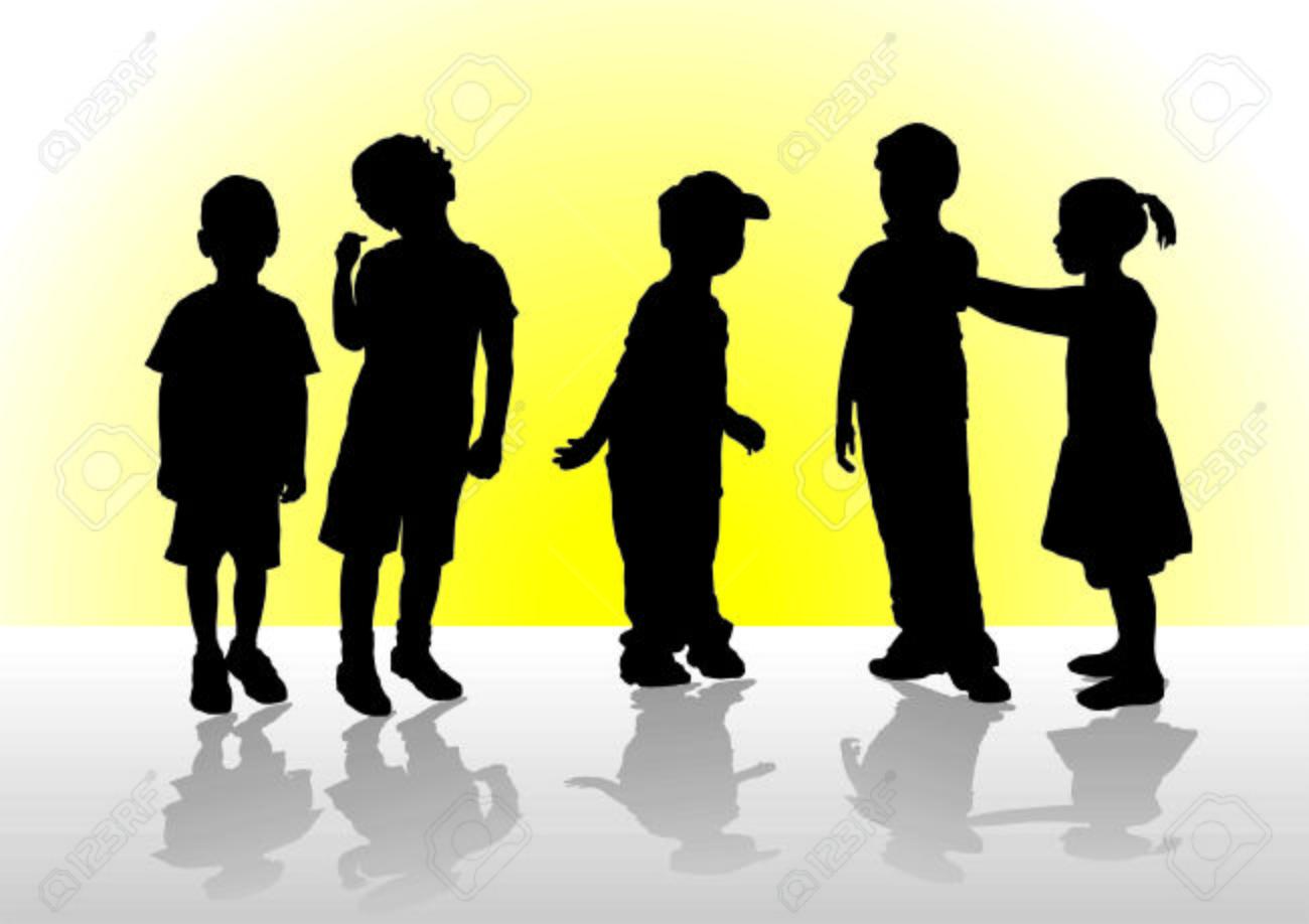 父、母、息子、幼児、子供、ベビーカー、黒、シルエット、伝統、3 つの