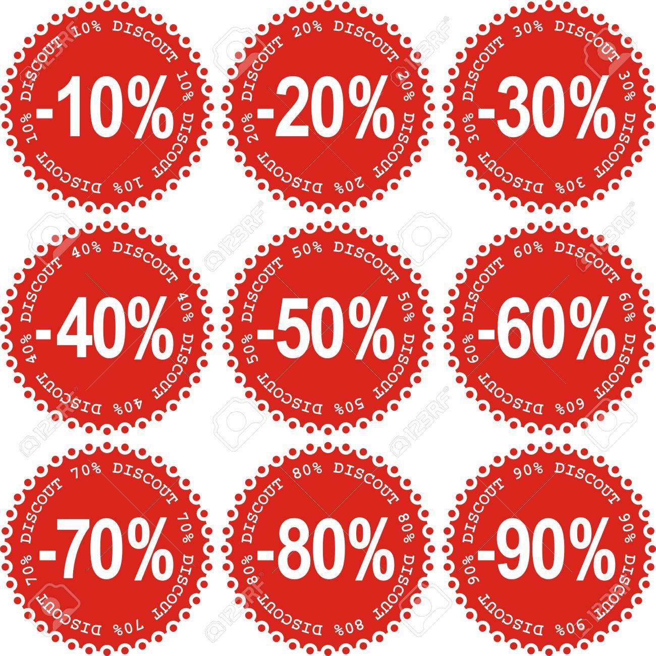 Sale Stickers Stock Vector - 4462587