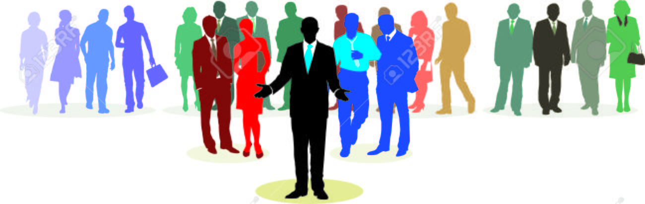 People in three line silhouette, color isolated vector Stock Vector - 5324787