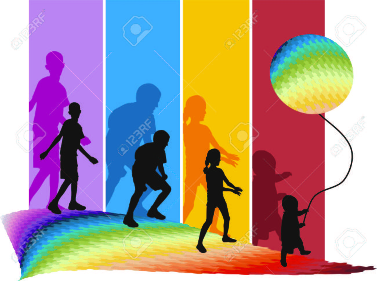 Childs on the move Stock Vector - 6960960