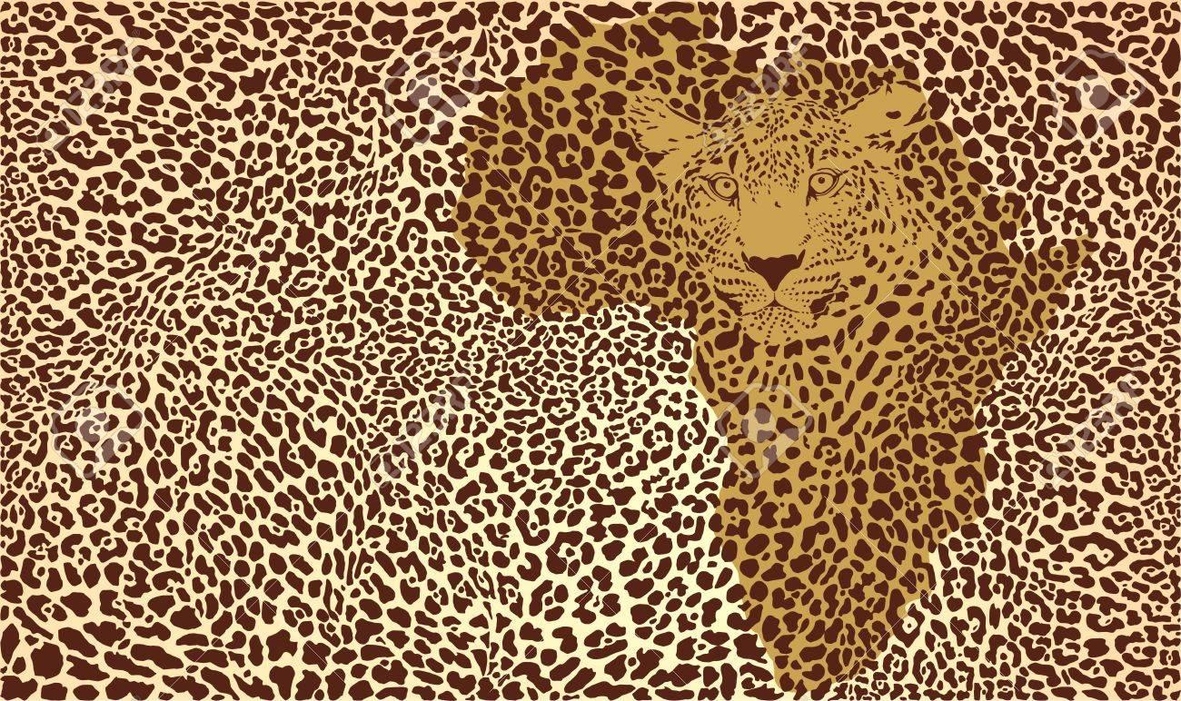 illustration background camouflage jaguar in Africa Stock Vector - 19361086