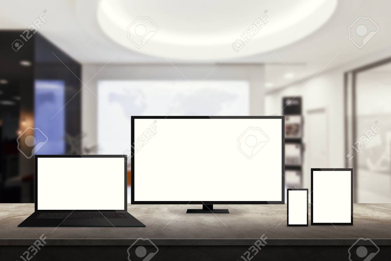 Geïsoleerde responsieve computer en mobiele apparaten op het