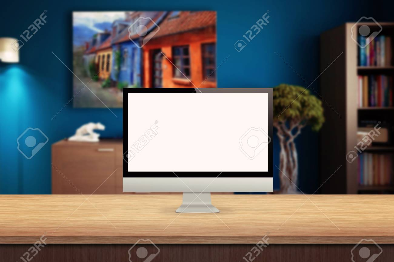 Cran d ordinateur sur la salle de la maison de bureau intérieur à