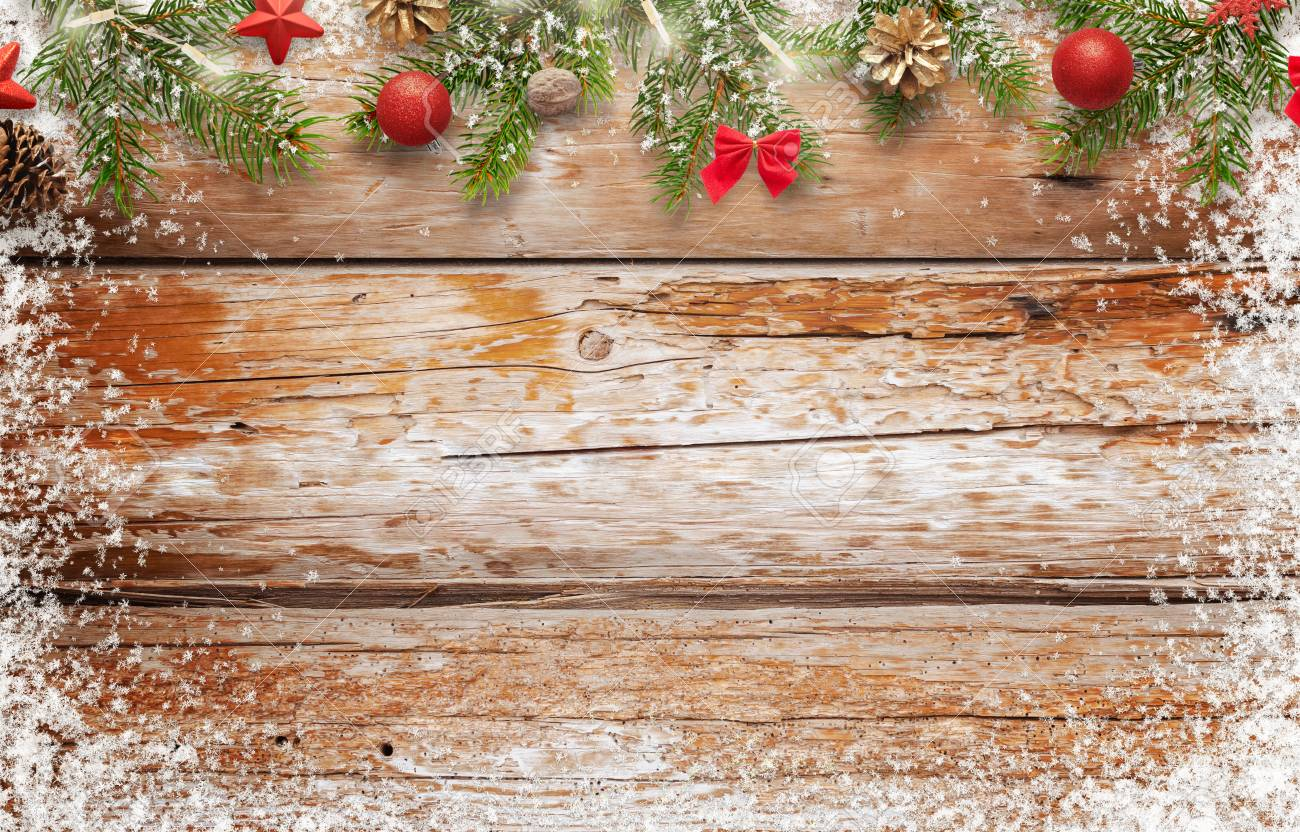 Christmas Free Images.Christmas Background Image Wooden Table With Free Space For