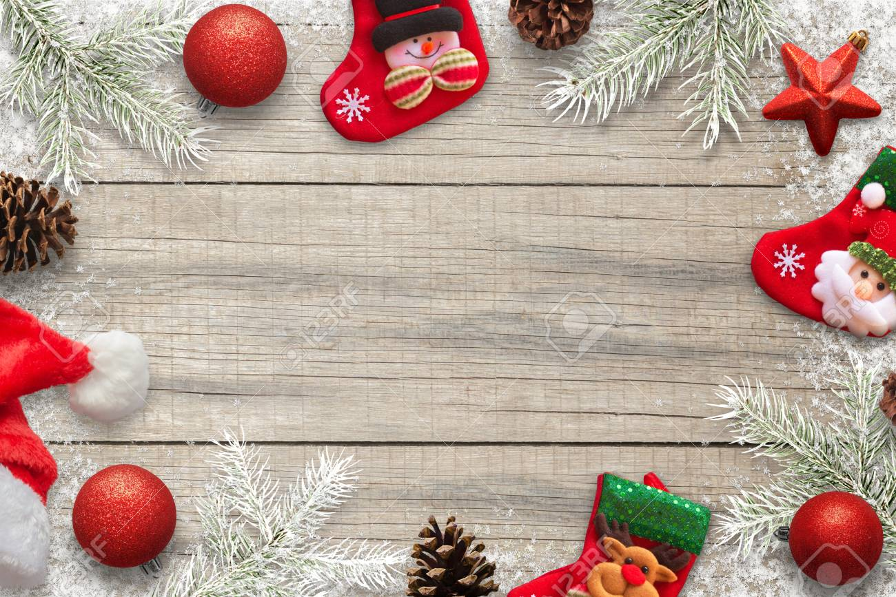 Christmas Background For Copy Text Christmas Decorations Socks