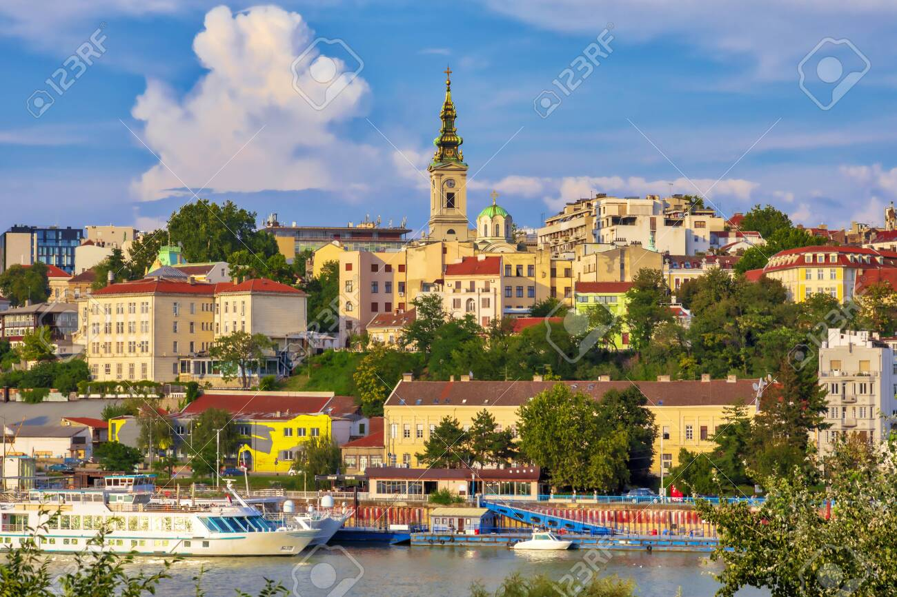 Belgrade, the capital of Serbia. View of the old historic city center on Sava river banks. Image - 134215146