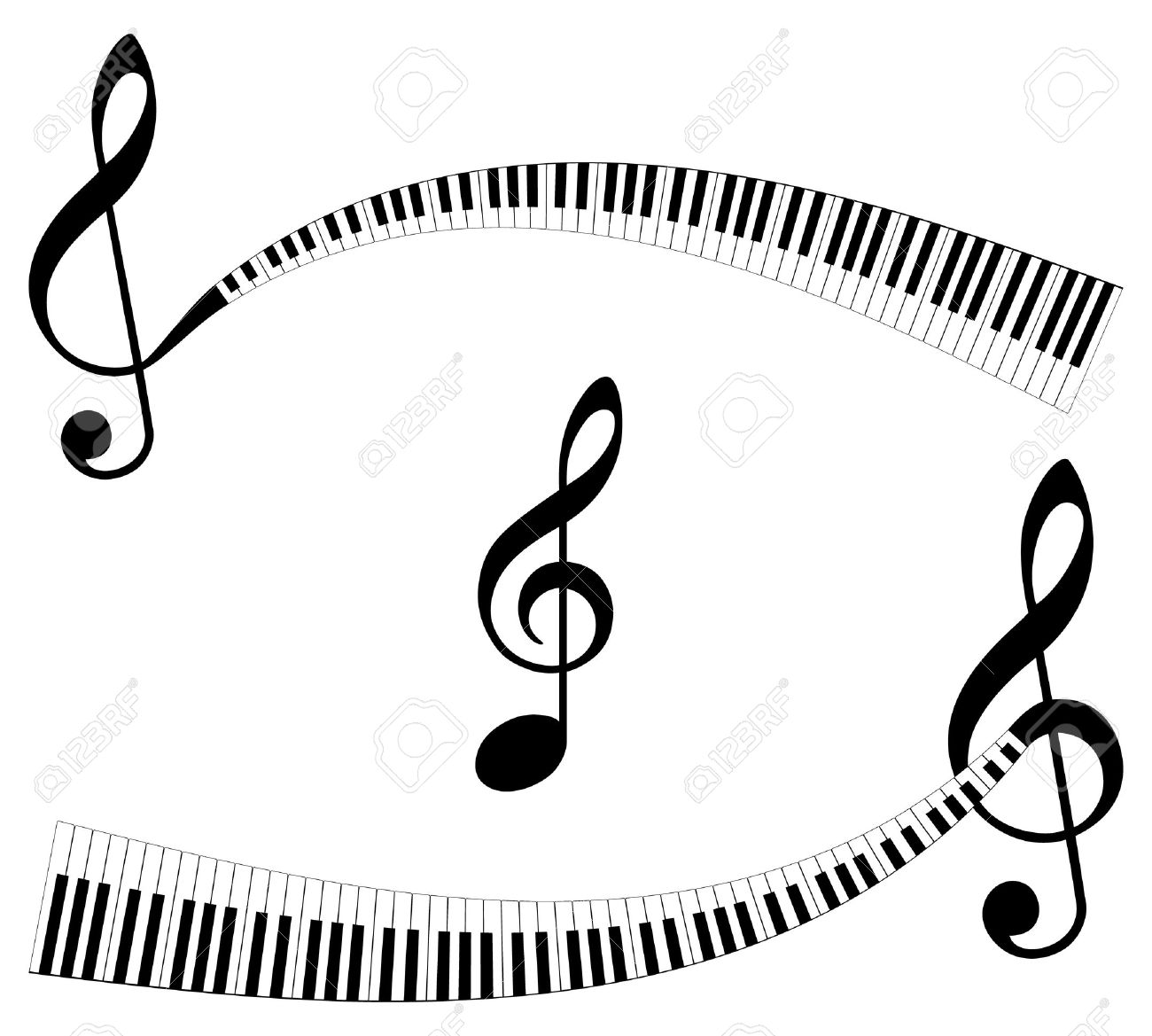 Clef with keyboard as ending set of abstract musical symbols clef with keyboard as ending set of abstract musical symbols isolated music abstract elements biocorpaavc Image collections